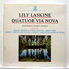VIA NOVA QT, LASKINE - RAVEL intro & allegro IBERT, CAPLET - ERATO LP NM