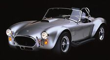 """Silver Shelby Cobra Car- 42"""" x 24"""" LARGE WALL POSTER PRINT NEW."""
