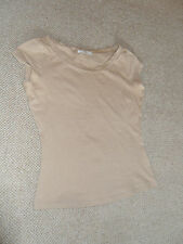Marks & Spencer tan brown coloured T- shirt top - size 8