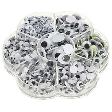 700Pcs/Box  Mix 7 Sizes Round Self-adhesive Googly Eyes for Doll Toy Exquisite