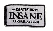 Batman Certified Insane ARKHAM ASSYLUM Logo Crest Embroidered Patch