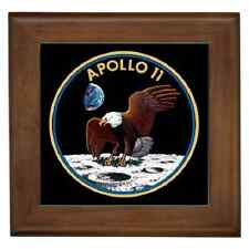 APOLLO 11 INSIGNIA CERAMIC FRAMED TILE - WALL DECO, ART, NOSTALGIC GIFT IDEA