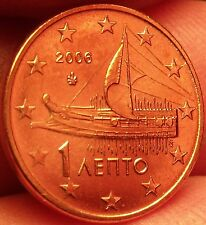 Gem Unc Greece 2006 1 Euro Cent~Ancient Athenian Trireme~Minted In Athens~Fr/Shi