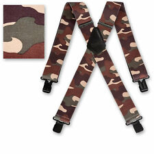 "Brimarc Mens Heavy Duty Suspender 2"" 50mm Wide Desert Camouflage Braces"