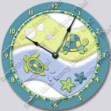 TURTLE BAY Personalized Nursery Wall Art Clock Baby Toddler Room Decor_FT