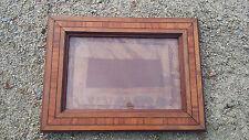cadre bois marqueterie acajou noyer ancien travail maîtrise frame photo