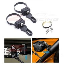 "1"" Pair Round Tube Mount Bracket Clamp Kit For LED Work Light Bar SUV Offroad"
