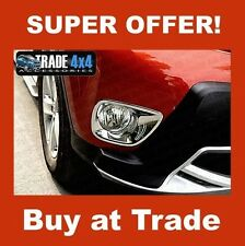 TOYOTA RAV4 2013+ CHROME FRONT FOG LIGHT LAMP COVERS SURROUNDS TRIM UK
