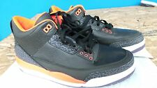 "New! NIKE MEN""S AIR JORDAN 3 RETRO ""CRIMSON"" Running Shoes Size 10.5   110O"