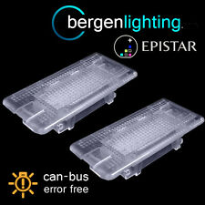 FOR BMW 1 SERIES E82 E88 2004 On 24 LED BOOT FOOTWELL GLOVE BOX LIGHT LAMP PAIR