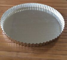 "French Tart Quiche Pan Removable Bottom Base 11"" Tin Steel Made in France"