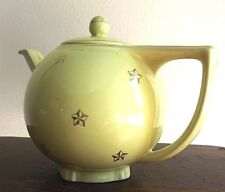 Hall Vintage Teapot Six ( 6 ) Cup Canary with Star Design #0739 Made in USA