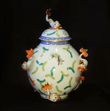 Herend Porcelain Jar and Cover Poissons Pattern PO---6419
