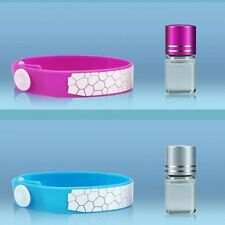 Anti Mosquito Pest Insect Bugs Repellent Repeller Wrist Band Bracelet + Oil Set