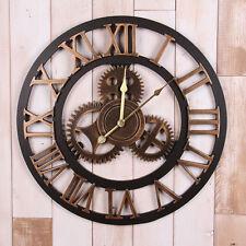 Handmade Large Gear Wall Clock Vintage Rustic Wooden luxury art vintage 60cm