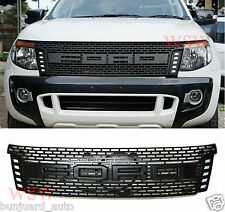 Daytime Running Light Black Raptor Grill Mask For T6 Wildtrak XL XLT PX 11-14 15