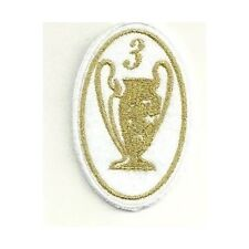 [Patch] CHAMPIONS LEAGUE 3 versione oro cm 5 x 7,5 toppa ricamata ricamo -167