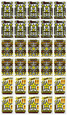 30 Yellow Rockstar Energy Vinyl Stickers Decals Motocross Bike Moto GP Racing