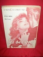 BIRGA/TESTA Tu sei qui SANREMO 1959 + Nun me parlate e chella (CIGLIANO/ROSSI)
