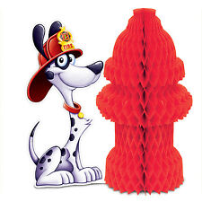 Dalmatian FIRE HYDRANT Party CENTERPIECE Decoration  Fire Truck FIREFIGHTER