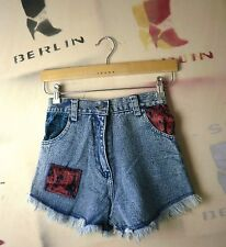 Crystal Damen Jeans Shorts bluestone TRUE VINTAGE kurz NOS bluehot women Samt