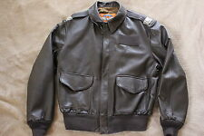 Cooper mfg,  A-2 Leather Flight Jacket ,100%  LEATHER GOATSKIN   size 44-R