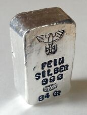 84 g Silver German Eagle Iron Cross +- 3 oz silver hand poured loaf bar by me