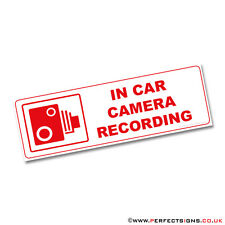 In Car Camera Recording Red Warning Stickers-CCTV Sign-Van Taxi Mini Cab