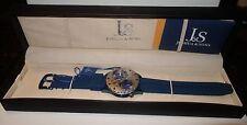 Joshua & Sons Dual Time Quartz Watch Retail $595.00 New