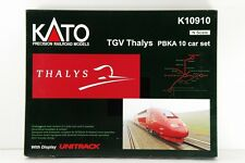 N-Scale KATO K10910 TGV Thalys PBKA 10 Car Set with Display UNITRACK VERY RARE!!