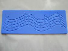 Silicone Mould Fondant/ Sugar Paste/Music Notes- Musical Embossing/Craft Mat