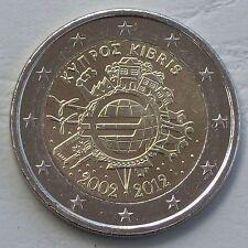 """2 Euro Zypern 2012 """"10 Jahre Euro"""" unz"""