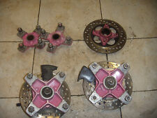 89 honda trx250r trx r 250r 250 front & rear wheel hubs brake rotor powder coat