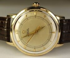 Early 1949 Omega 14K Solid Gold Cal. 351 Bumper Automatic Vintage Swiss Watch