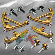 J2 SPORTS FRONT+REAR LOWER CONTROL ARM SUSPENSION FOR 89-98 240SX S13 S14 GOLD