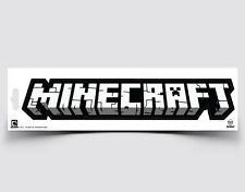 """Minecraft Logo Car Bumper Sticker Decal Official Licensed Authentic 10"""" x 2"""""""
