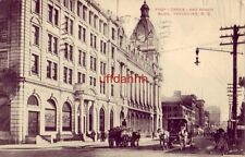 POST OFFICE and WINCH BLDG. VANCOUVER B.C. CANADA 1910 horse-drawn carriage
