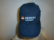 REPSOL LUBRICANTS HAT Baseball Cap Embroidered Logo Race Automotive Mechanic Oil