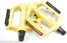 YELLOW Wellgo Metal BMX / ATB / FIXIE Pedals - 9/16 (3 Piece Crank)