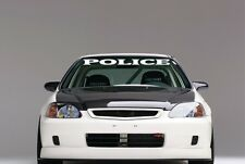 "POLICE windshield banner decal sticker 4"" X 36"" choice of color"