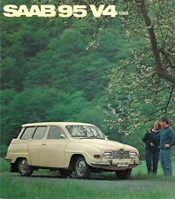 Saab 95 V4 Estate 1968-69 UK Market Foldout Sales Brochure