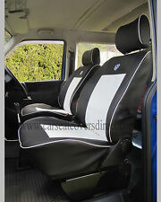 VOLKSWAGEN VW TRANSPORTER T4 BLACK & WHITE VAN SEAT COVERS