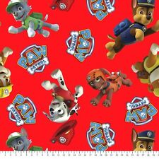 Paw Patrol Anti-Pill Fleece Fabric By The Yard
