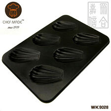 6-Cup Madeleine Shell Tin Pan Cupcake Baking Tray Non-stick Steel Mould Bakeware