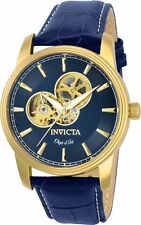 Invicta Objet D Art Automatic Blue Skeleton Mens Watch 22617