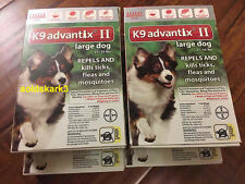 NEW Bayer K9 Advantix II Large For Dogs 21 - 55 lbs - 6 pack - 6 month