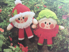KNITTING PATTERN Jean Greenhowe Santa and Mrs Claus Humpty Dumpty Christmas 30cm