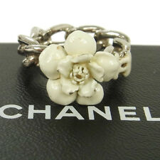 Authentic CHANEL Vintage CC Logos Flower Motif Ring Size 6.5 Accessories AK11831
