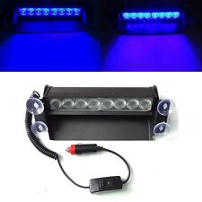 8 LED AUTO CAMION POLIZIA BLU stroboscopica di emergenza 3 LAMPEGGIANTE FLASH DASH Lampada UK