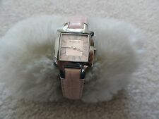 Pretty Ladies Kenneth Cole Quartz Water Resistant Watch with a Pink Leather Band
